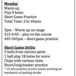 Practice Calendar